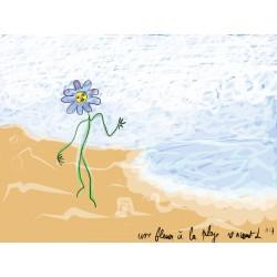 Une fleur à la plage